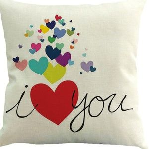 Pillow Cover- NEW- I Love You Hearts